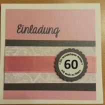 Geburtstagseinladung, Pink, Einladung, Papier, Karte basteln