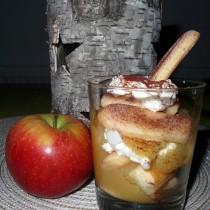Apfel-Tiramisu-Schichtdessert