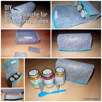 Gläschentasche aus Filz selber nähen / DIY / Babynahrung / Aufbewahrung